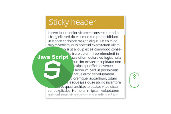 Sticky headers with Javascript